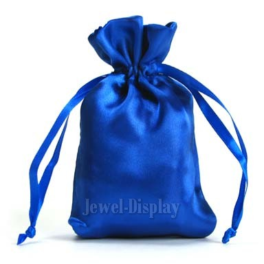 Details about 200 Royal Blue Satin Jewellery Gift Bags Square-Bottom