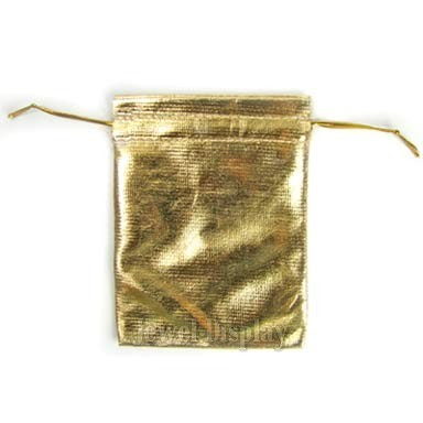 Gold Wedding Gift Bags : 50 Metallic Gold Wedding Pouches Jewelry Gift Bags 1.9x2.7